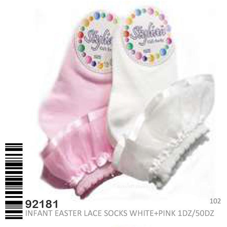 Stylian Girls Lace Infant Socks #92181 (12PC)