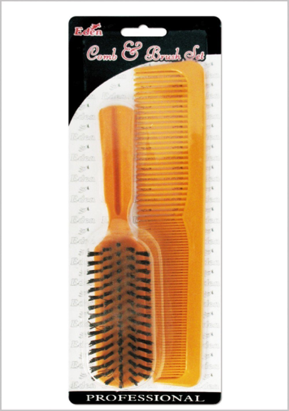 "#819 Eden 9"" Comb & Plastic Brush Set (12Pk)"