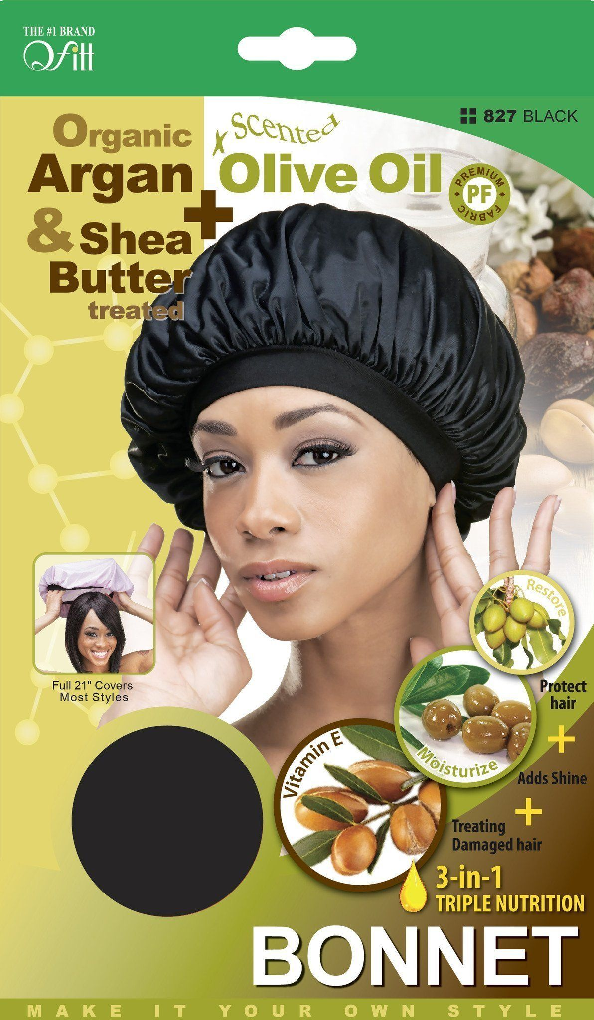 #827 Organic Bonnet / Black