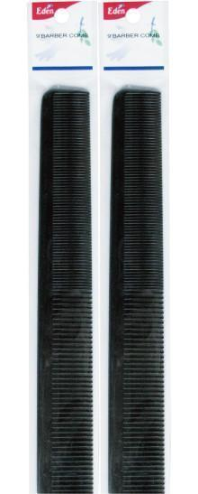 "#9512 Eden Black 9"" Barber Comb (12Pc)"