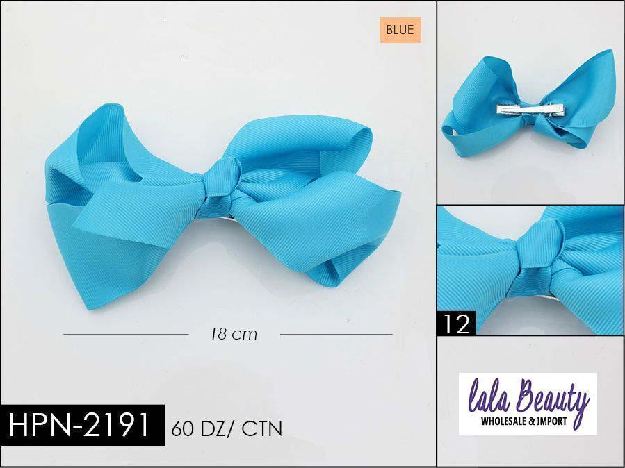 Large Hair Bow #HPN2191 Blue (Dozen)