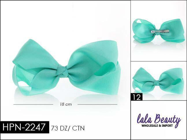 Large Hair Bow #HPN2247 Mint (Dozen)