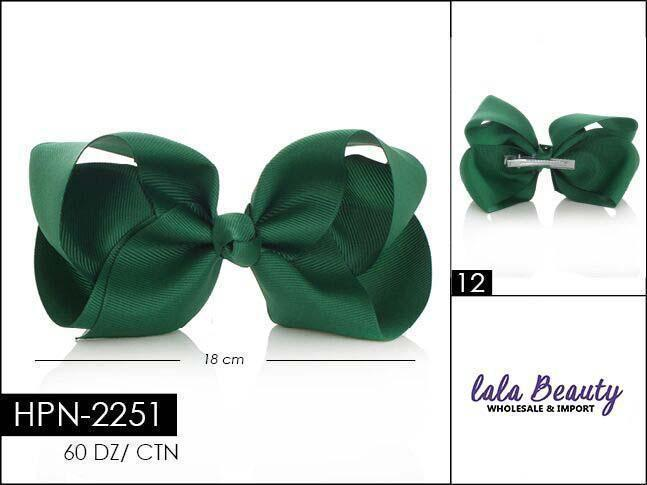 Large Hair Bow #HPN2251 Dark Green (Dozen)