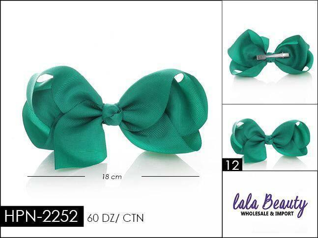 Large Hair Bow #HPN2252 Emerald Green (Dozen)