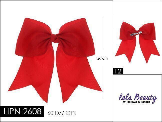 Cheer Bow #HPN2608 Red (Dozen)