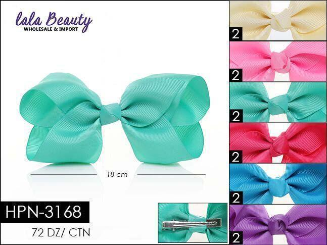 Large Hair Bow #HPN3168 Easter Mix (Dozen)