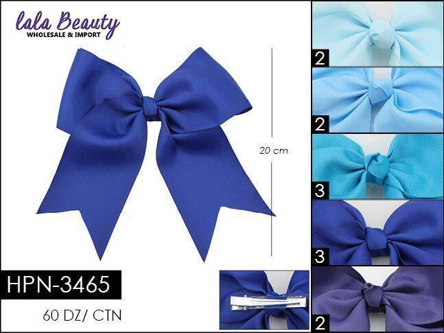 Cheer Bow #HPN3465 Blue Mix (Dozen)