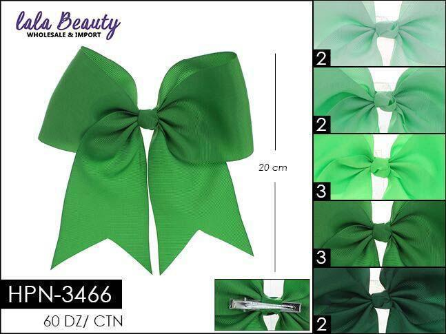 Cheer Bow #HPN3466 Green Mix (Dozen)