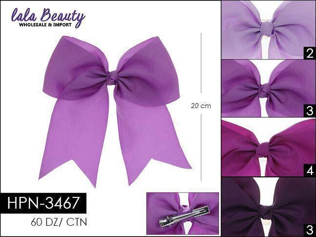 Cheer Bow #HPN3467 Purple Mix (Dozen)