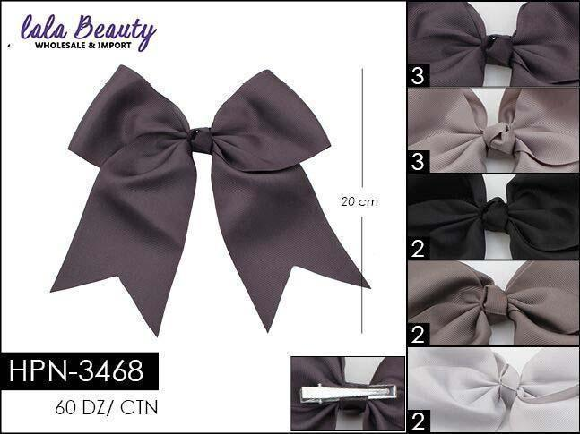 Cheer Bow #HPN3468 Gray Mix (Dozen)