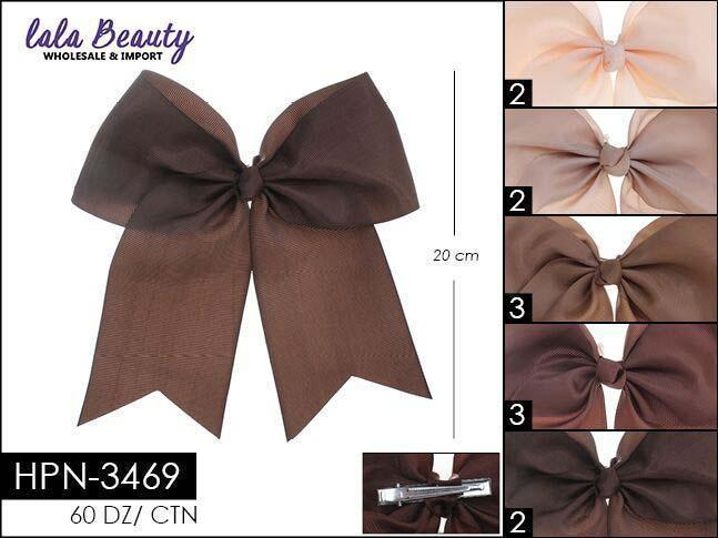 Cheer Bow #HPN3469 Brown Mix (Dozen)