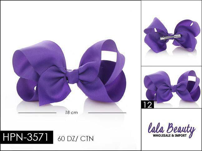 Large Hair Bow #HPN3571 Dark Purple (Dozen)