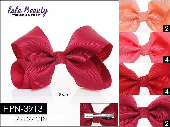 Large Hair Bow #HPN3913 Red Mix (Dozen)
