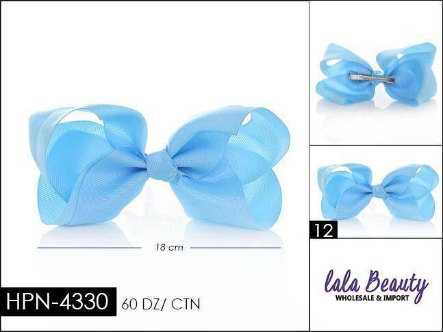 Large Hair Bow #HPN4330 Light Blue (Dozen)