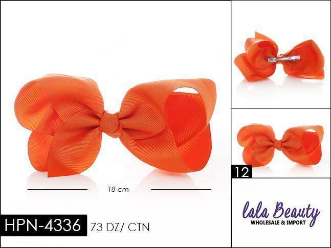 Large Hair Bow #HPN4336 Orange (Dozen)