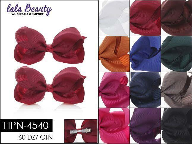 Small Hair Bow #HPN4540 Dark Mix (2 Dozen)