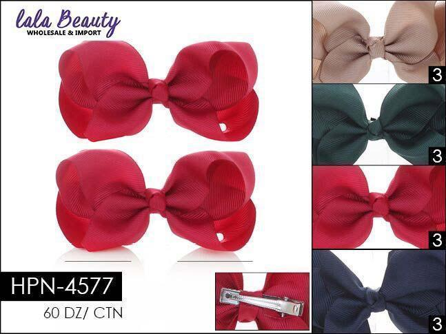 Small Hair Bow #HPN4577 Catholic School Mix (2 Dozen)