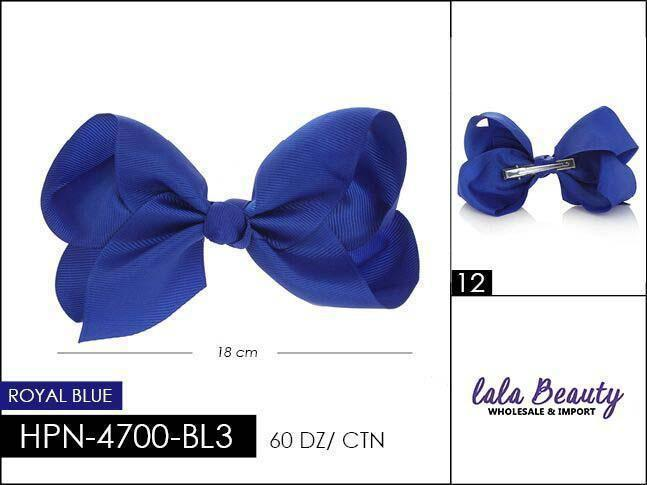 Large Hair Bow #HPN2197 Royal Blue (Dozen)