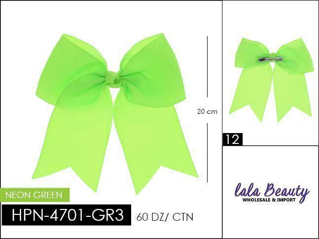 Cheer Bow #HPN4701-GR3 Neon Green (Dozen)