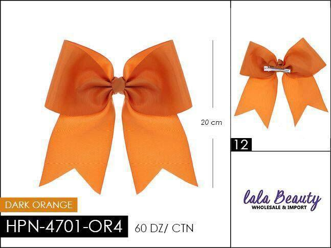 Cheer Bow #HPN4701-OR4 Dark Orange (Dozen)