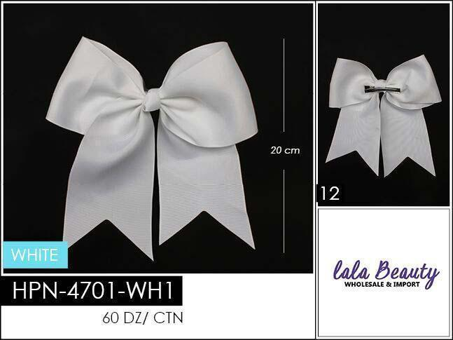 Cheer Bow #HPN2604 White (Dozen)