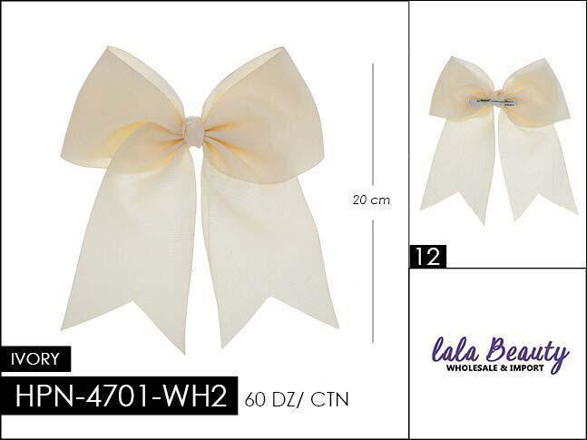 Cheer Bow #HPN4701-WH2 Ivory (Dozen)