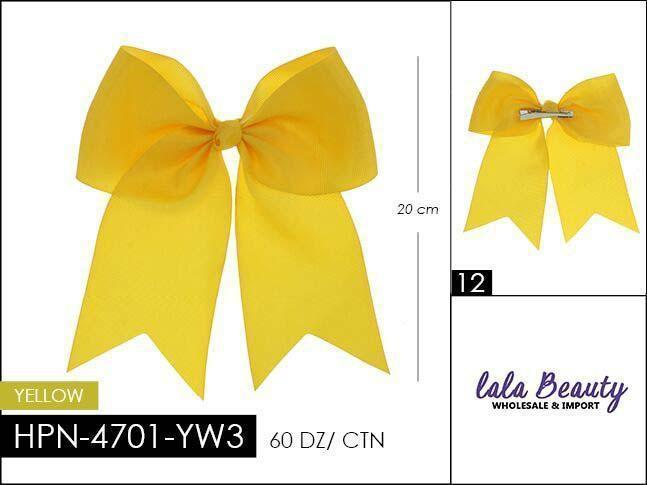 Cheer Bow #HPN4701-YW3 Yellow (Dozen)