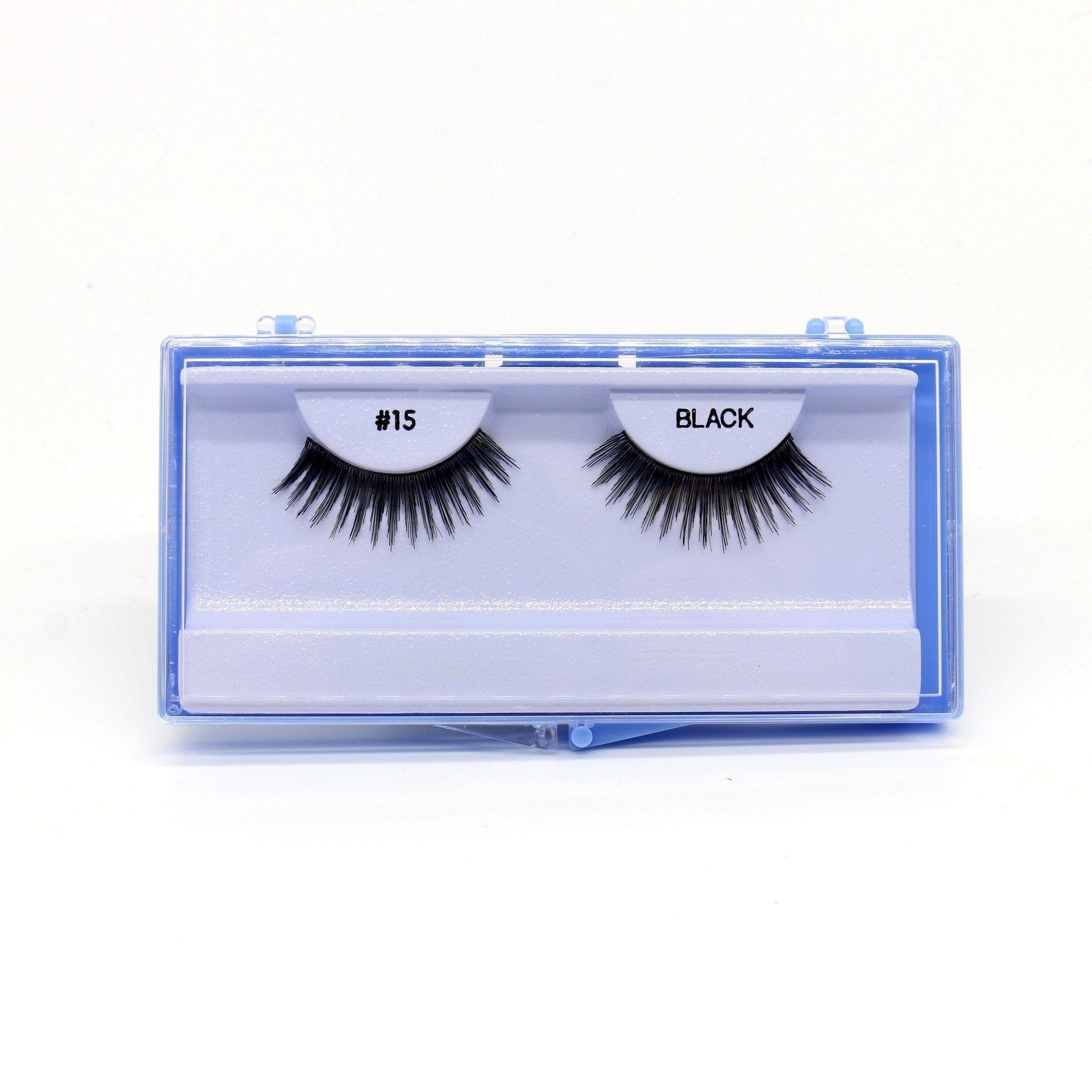 Blue Case Eyelash, #15 (6PC)