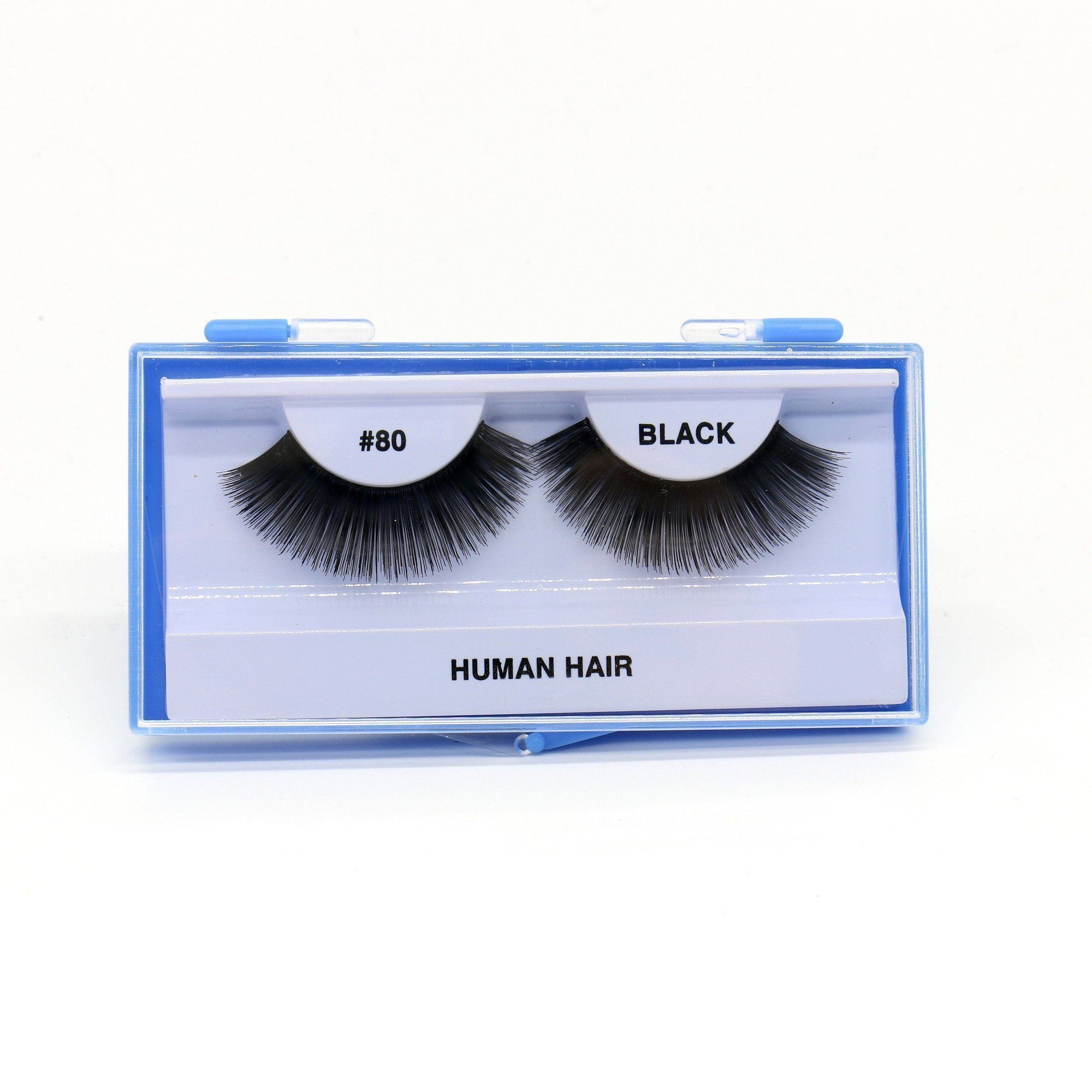 Blue Case Eyelash, #80 (6PC)