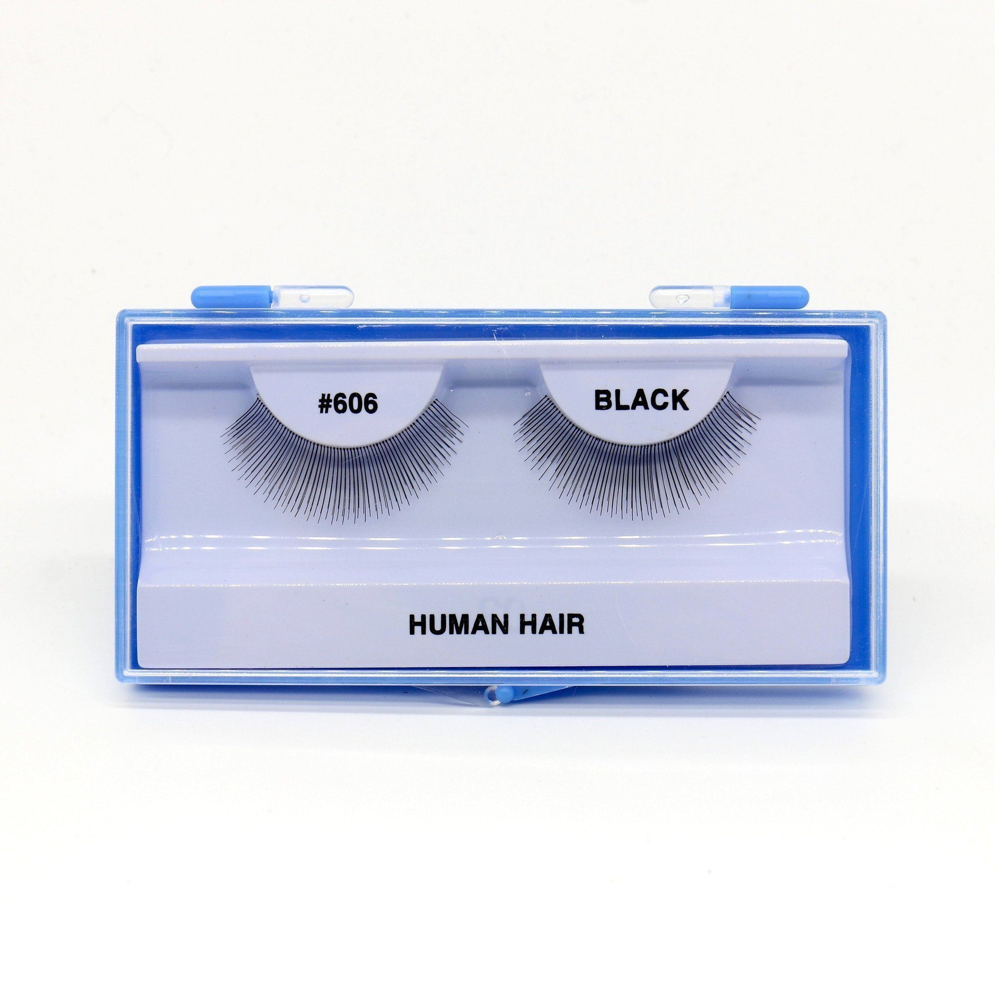 Blue Case Eyelash, #606 (6PC)