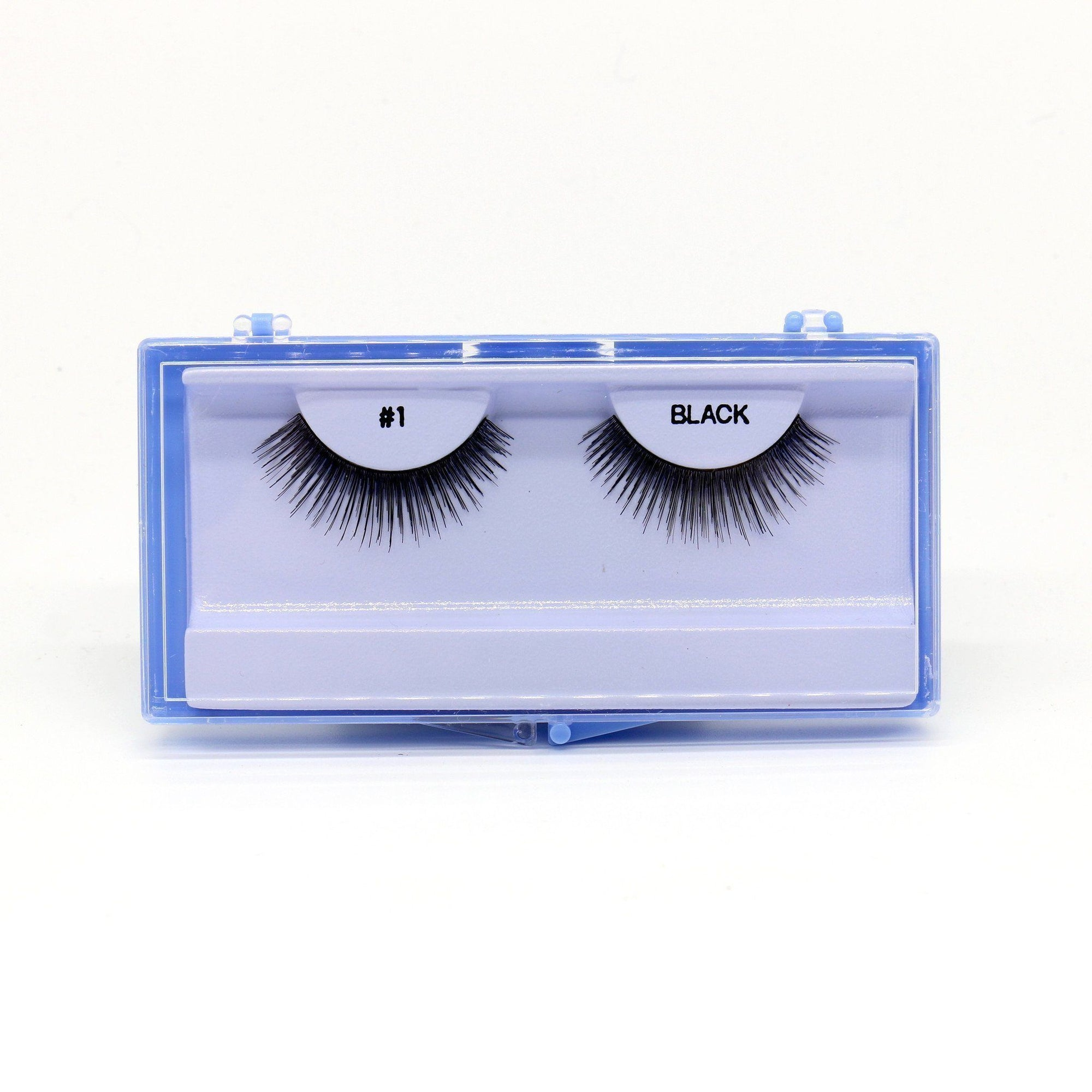 Blue Case Eyelash, #1 (6PC)