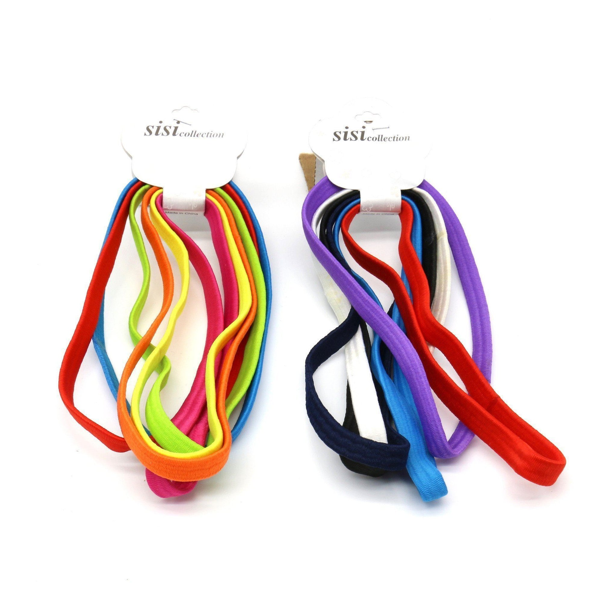 #EHW157A Assort Thick Elastic Head Band (12PC)