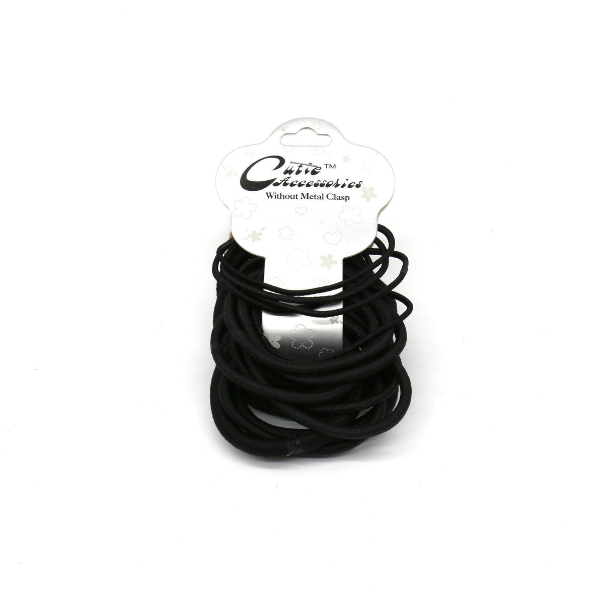 #EPT381K Black Thin & Thick Elastic Rubber Bands (12PC)