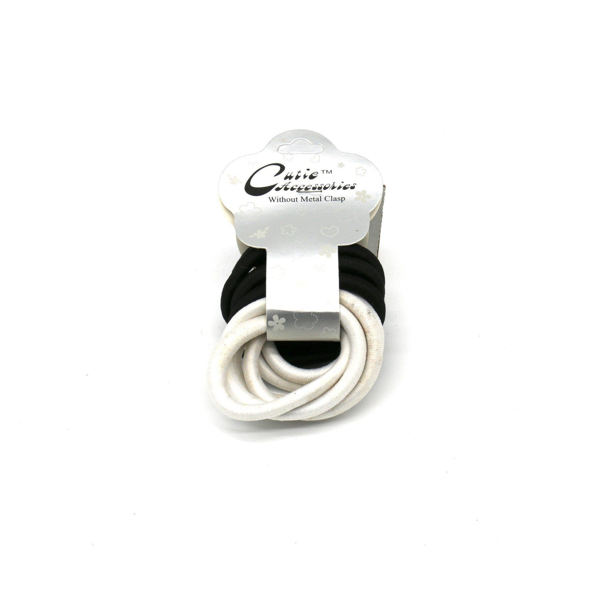 #EPT361BW Black/White Thick Elastic Rubber Bands (12PC)