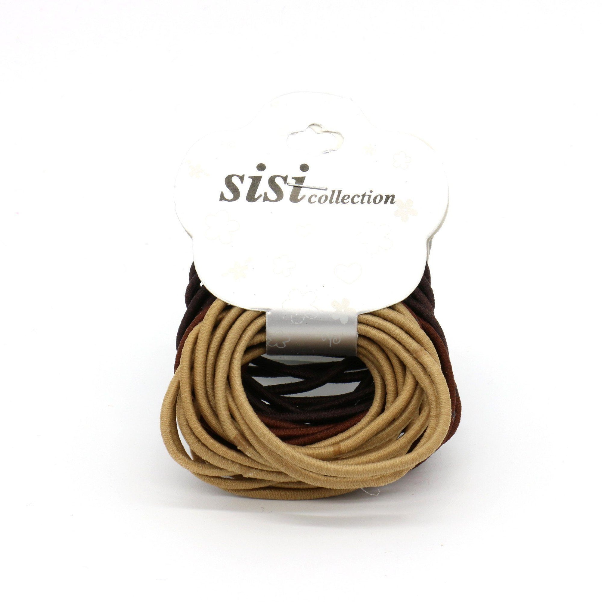 #EPT359BR Thin Assort Brown Elastic Bands (12PC)