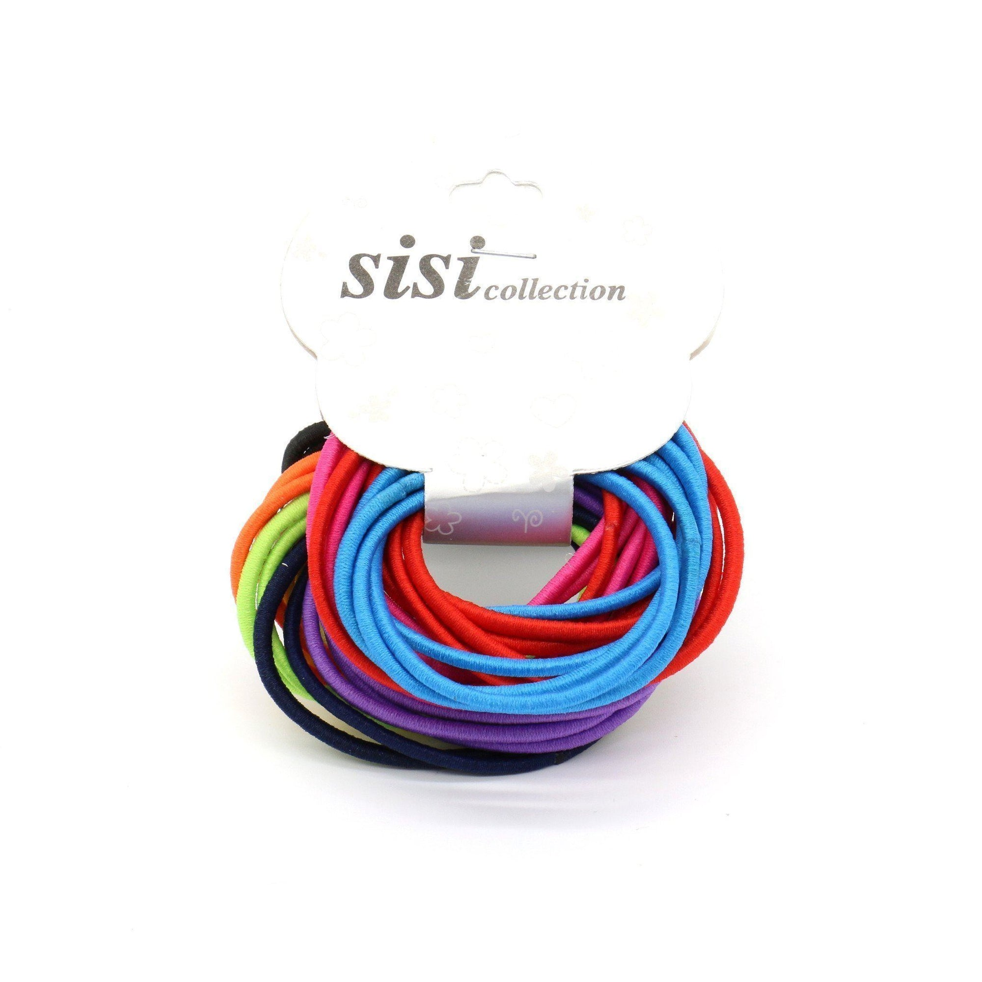 #EPT359A Thin Assorted Colors Elastic Bands (12PC)