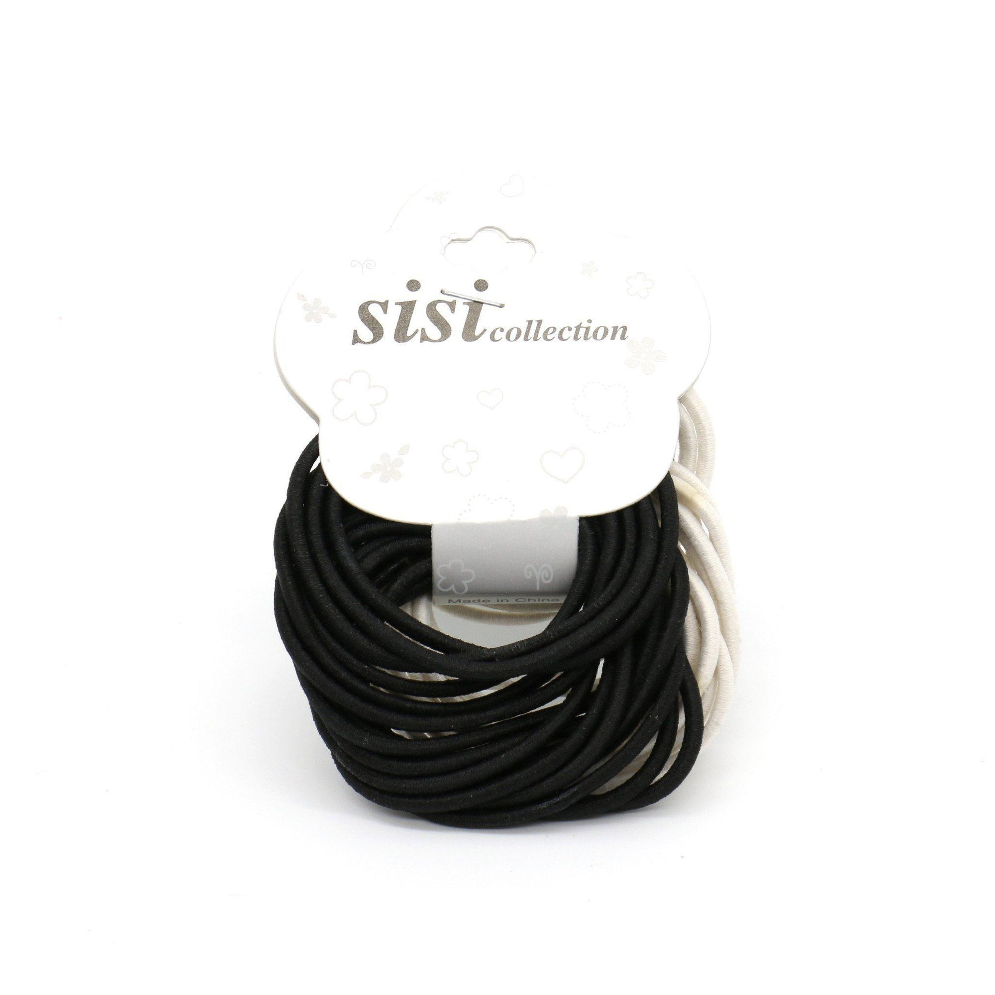 #EPT359BW Thin Black / White Elastic Bands (12PC)