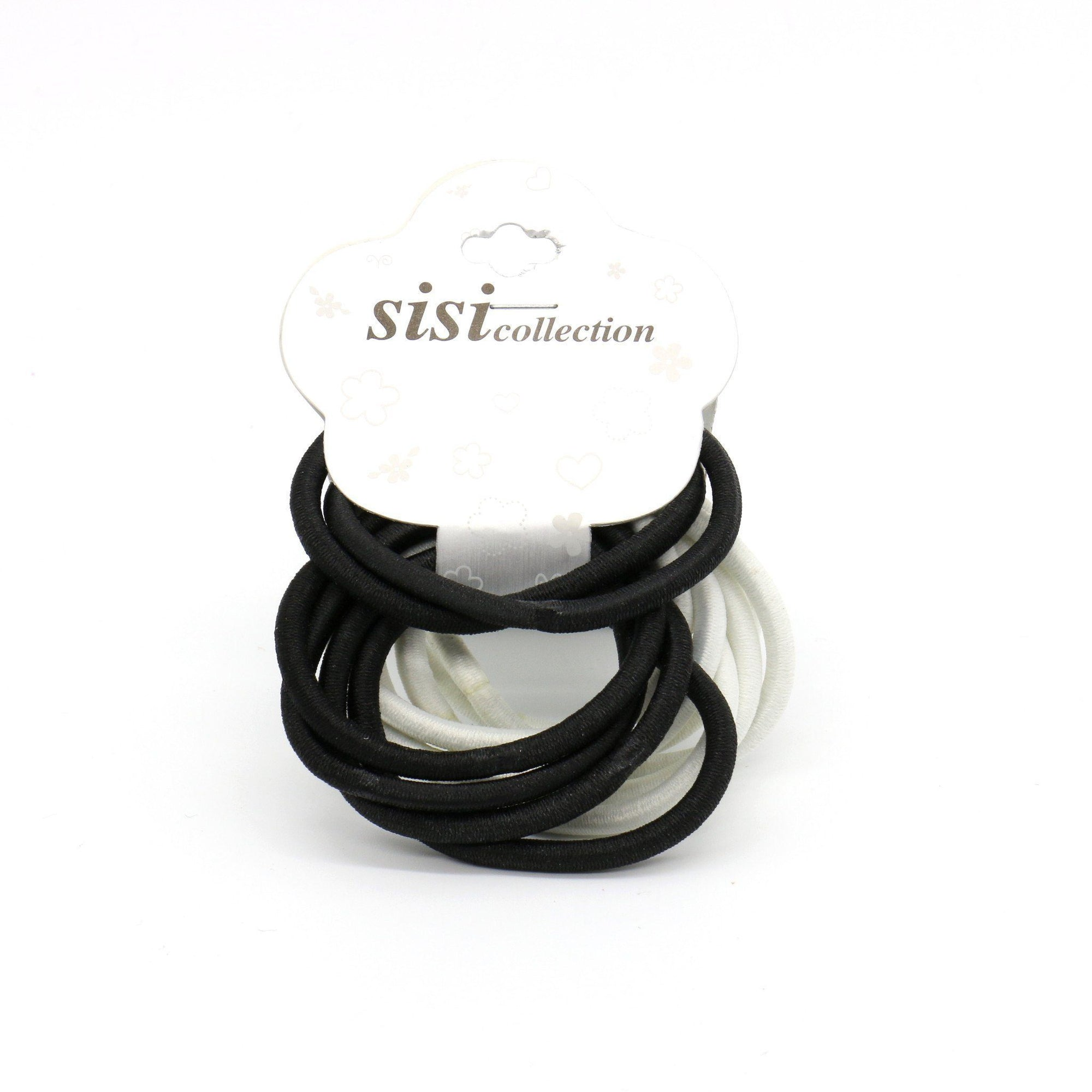 #EPT328BW Thick Black / White Elastic Bands (12PC)