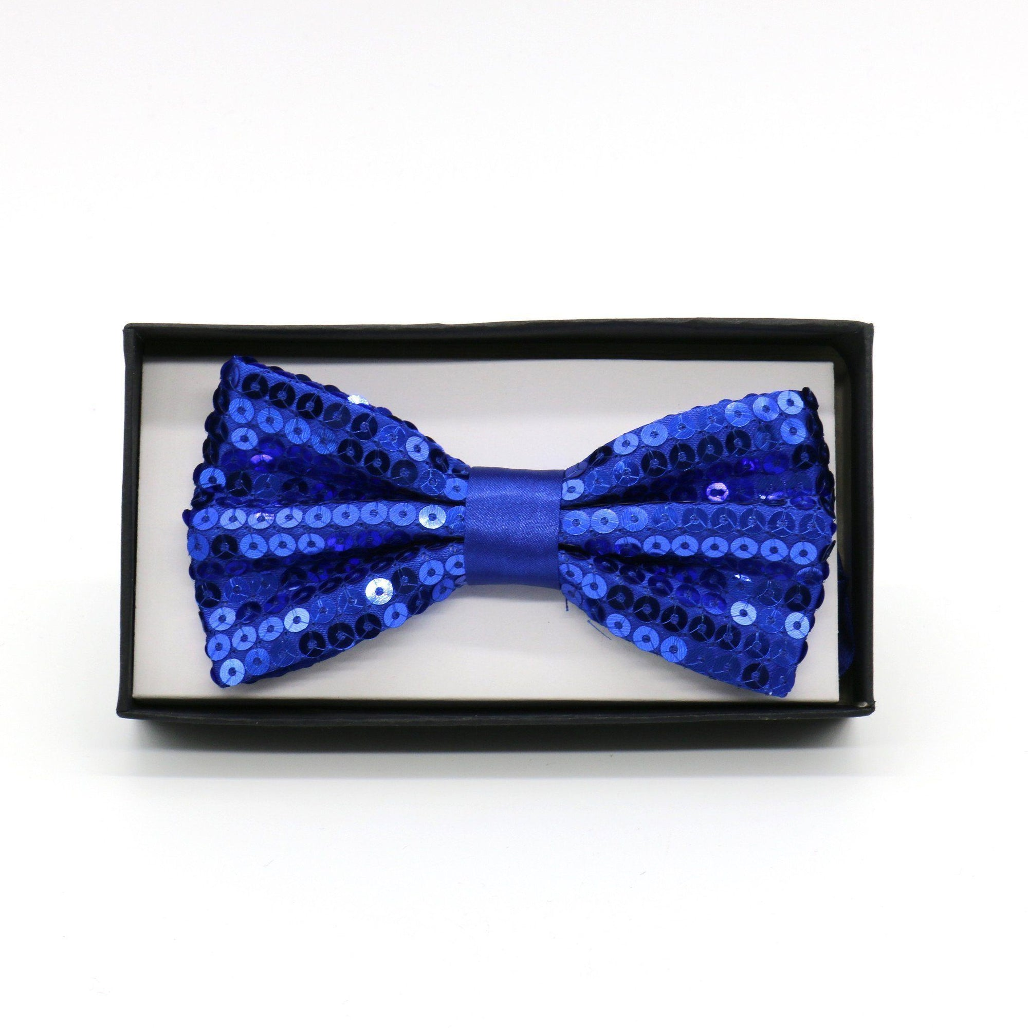 Sequin Adult Bow Tie, Blue (PC)