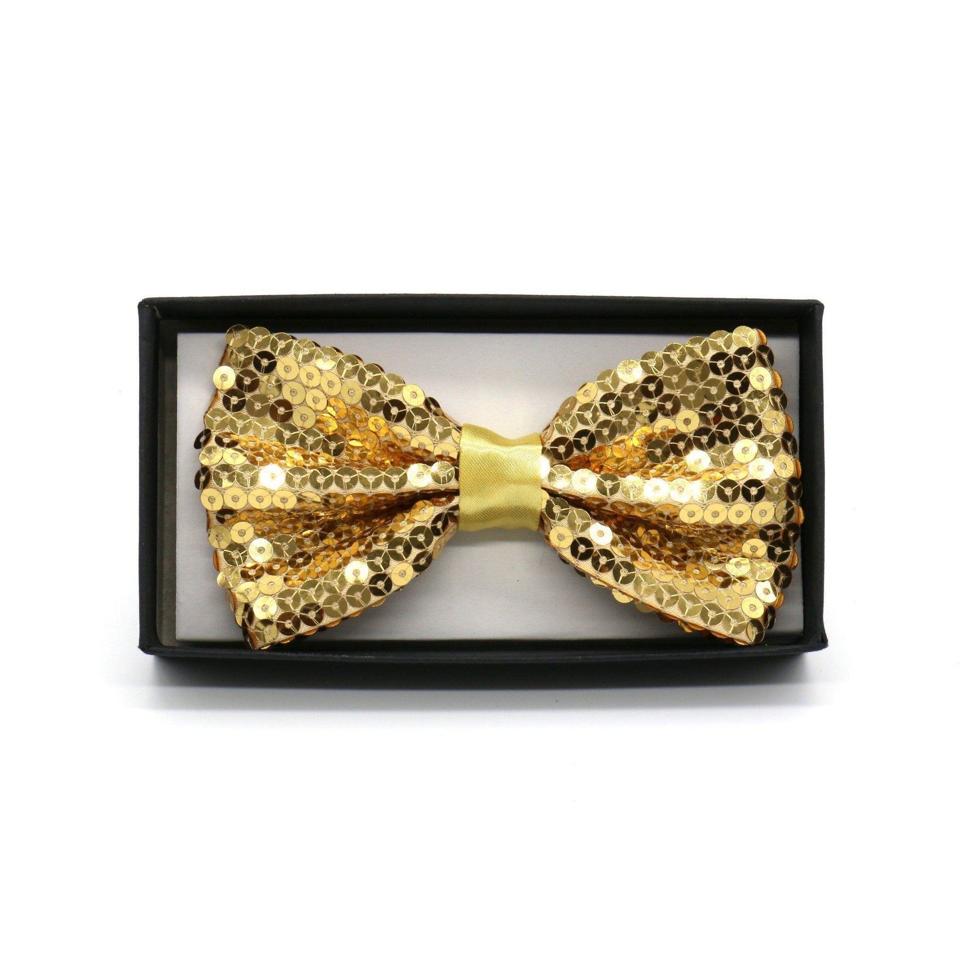 Sequin Adult Bow Tie, Gold (PC)