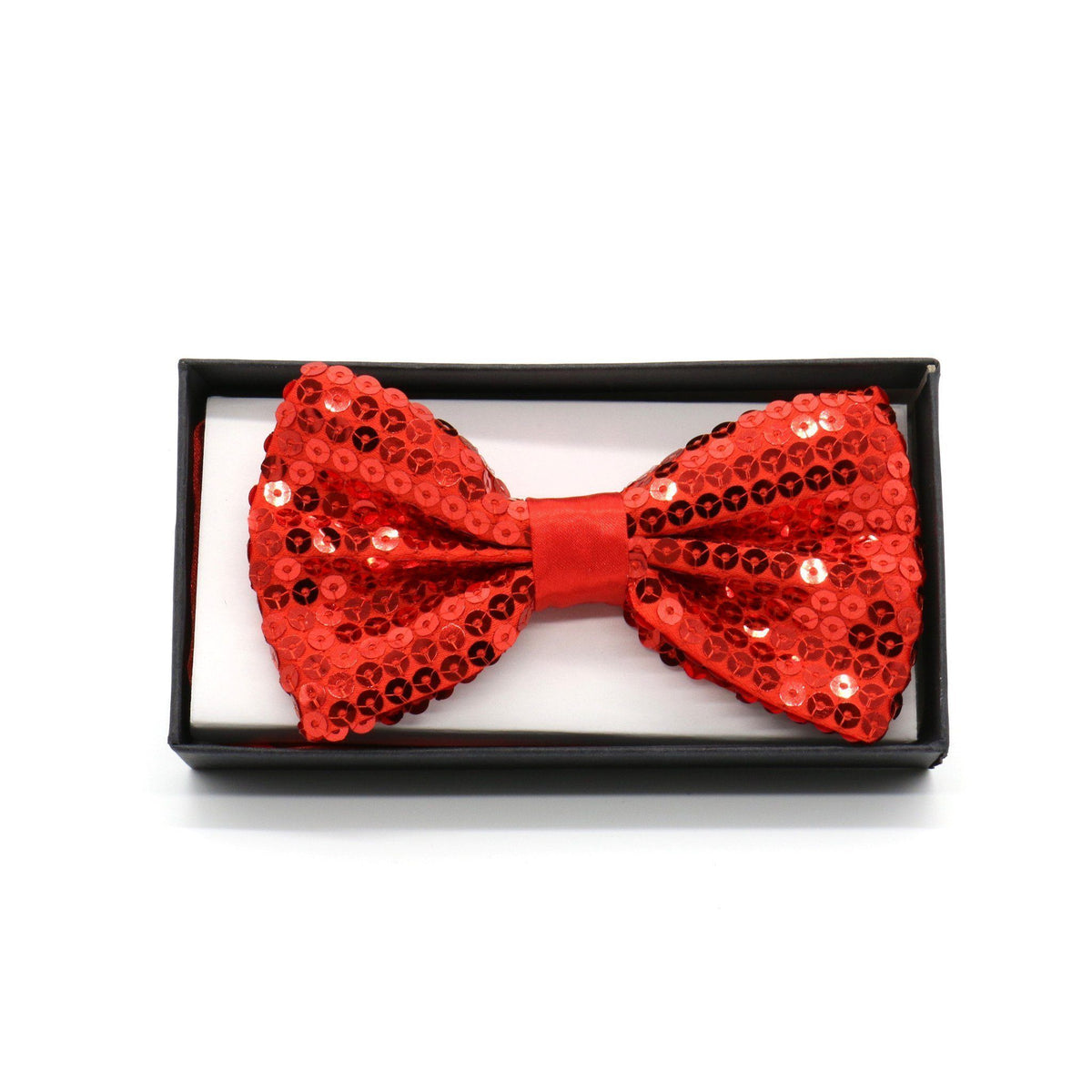 Sequin Adult Bow Tie, Red (PC)