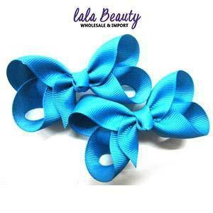 Mini Hair Bow #QHC2390BL Blue (2 Dozen)