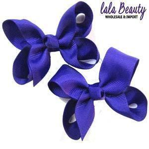 Mini Hair Bow #QHC2390DP Dark Purple (2 Dozen)