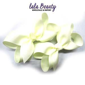 Mini Hair Bow #QHC2390IV Ivory (2 Dozen)