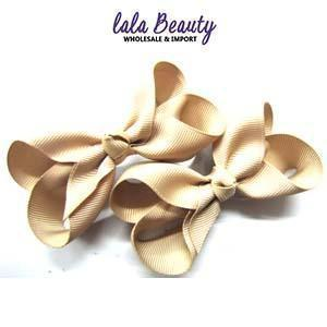 Mini Hair Bow #QHC2390KH Khaki (2 Dozen)
