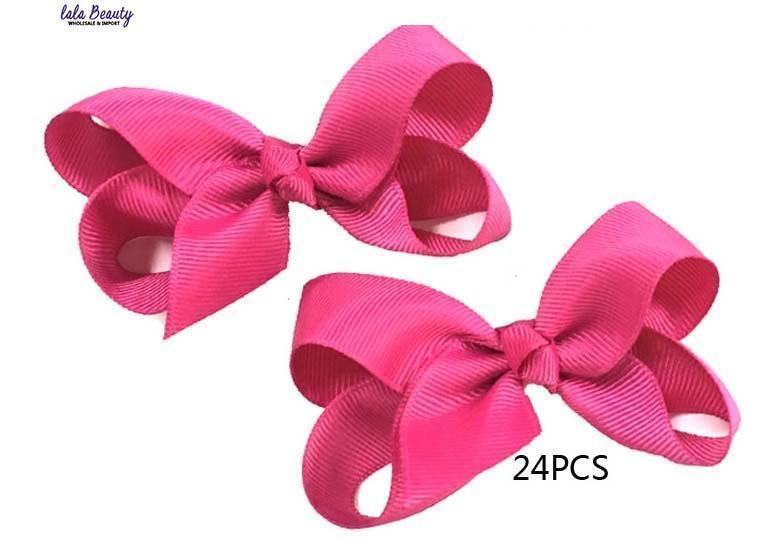 Mini Hair Bow #QHC2390MG Magenta (2 Dozen)
