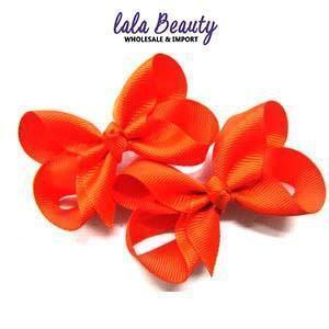 Mini Hair Bow #QHC2390OR Orange (2 Dozen)