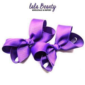 Mini Hair Bow #QHC2390PR Purple (2 Dozen)