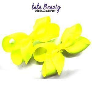 Mini Hair Bow #QHC2390YE Yellow (2 Dozen)