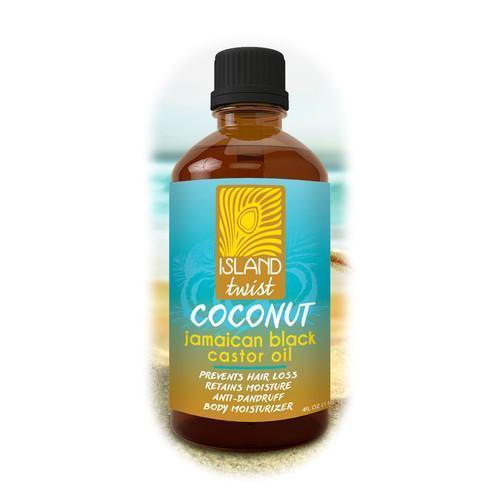 Island Twist Jamaican Black Castor Oil 4oz
